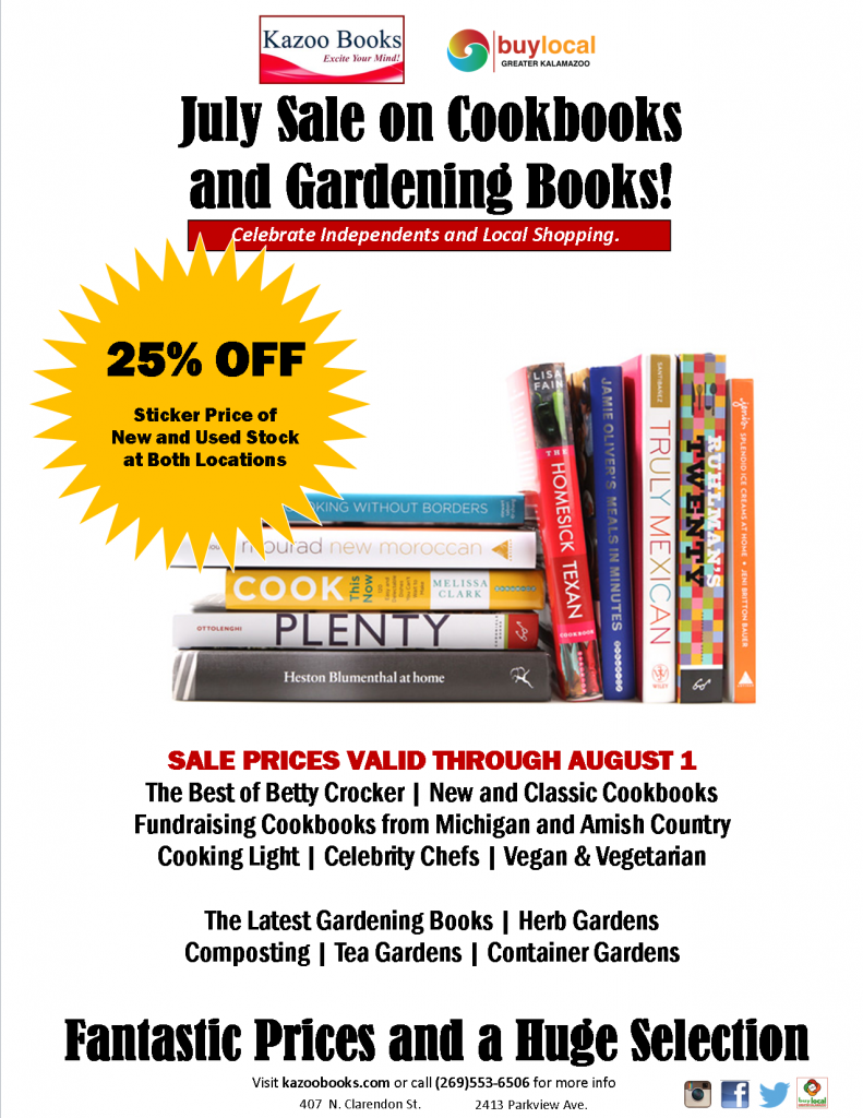 Cookbook Gardening Sale